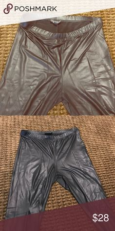 Topshop leggings Top shop leggings- leather look but extremely flexible and breathable Topshop Pants Leggings