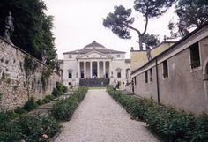"A rare photograph showing the outbuildings of Villa Capra (""La Rotonda"")."