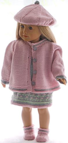 Baby Knitting Patterns Dress Puppet jacket knit instruction - Elegant summer dress for cheerful bright summer . Knitting Dolls Clothes, Crochet Doll Clothes, Knitted Dolls, Baby Knitting Patterns, Girl Puppets, Elegant Summer Dresses, All American Girl, Our Generation Dolls, Knit Beanie Hat
