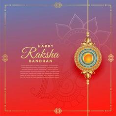 Lovely rakshabandhan festival with rakhi decoration, text template ,