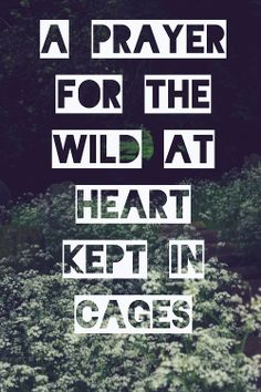 a prayer for the wild at heart kept in cages |