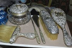 Steiff Sterling Dresser Set!