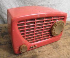 Vintage Arvin Peach Radio with tubes art deco by RuffByMargo, $36.00