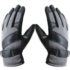 Winter Thermal Men's Gloves Nylon Leather Skidproof Outdoor Thread Driving Mittens - Gchoic.com