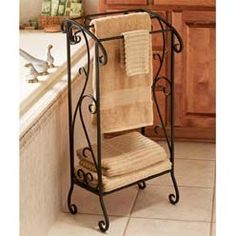 Adams Wrought Iron Bath Towel Stand
