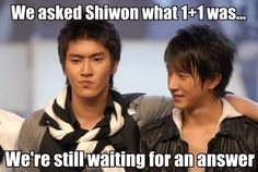 Poor Siwon~ Don't hurt yourself thinking!