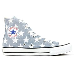 All Star Sneakers Grey with White Stars