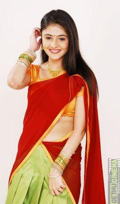 South actress Rachana Malhotra In Half Saree Photoshoot Beautiful Girl Photo, Beautiful Girl Indian, Beautiful Saree, Beautiful Indian Actress, Beautiful Bride, Indian Girls Images, Bollywood Actress Hot Photos, Saree Photoshoot, Saree Models
