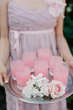 pretty presentation. lavender & pink.