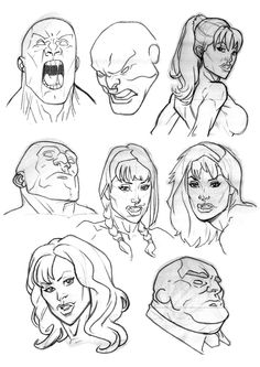 Been really struggling with faces lately so these are the best results of some warm-ups and practice. Some based on photos and other just off the top of my head.