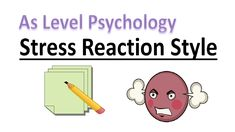 What is the stress reaction style? In this video we will learn what the stress reaction style is and why it is used for people. A Level Revision, Psychology A Level, Education, Style, Swag, Onderwijs, Learning, Outfits