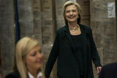 Hillary Clinton meets with small business owners in Norwalk, Iowa on April 15, 2015.