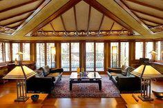 Living Room. Avery Coonley House. Prairie Style. Frank Lloyd ... 1908