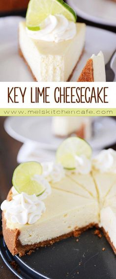 Amazing Key Lime Cheesecake {Plus a Foolproof & Easy Method to Avoid Cracking} - All Things Sweet - Cake-Kuchen-Gateau Just Desserts, Delicious Desserts, Yummy Food, Summer Desserts, Key Lime Desserts, Lemon Desserts, Lime Recipes, Sweet Recipes, Cheesecake Recipes