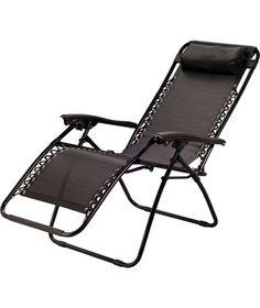 Prima Lightweight Outdoor Folding Camping Garden Reclining Chair With Headrest Online