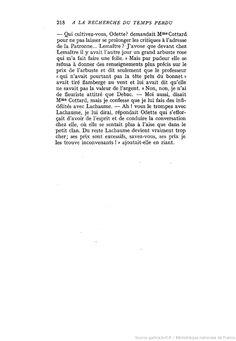 A la recherche du temps perdu. T. 3 / Marcel Proust | Gallica
