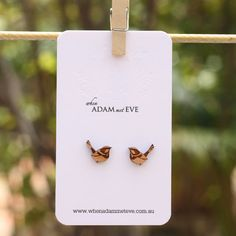 Wren stud earrings. $22.00, via Etsy.
