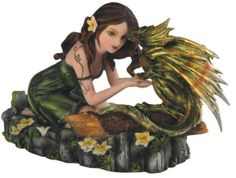 Green Fairy Kneeling with Small Green and Yellow Dragon Figurine GSC Motorsports http://www.amazon.com/dp/B007C8VGGA/ref=cm_sw_r_pi_dp_P0Bhwb1MS0WTV