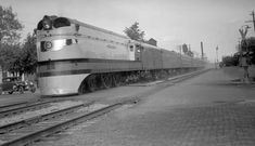 """Four modern atlantic type locomotives were purchased in 1935 to power a high speed train named the """"Hiawatha"""" between Chicago and St. Paul/Minneapolis. These were the first steam locomotives to be built streamlined. They were also the first steam locomotives intended to cruise at 100 mph (they could reach 120 mph). Average speeds of these trains were 60 mph with top speeds of about 100 mph. They regularly pulled nine car trains."""