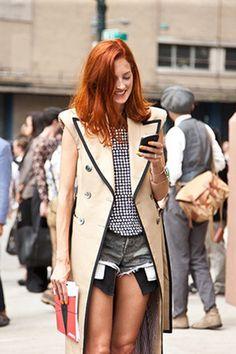 Taylor Tomasi Hill Lob. La editora de moda es la versión pelirroja del Lob.