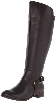 Anne Klein Women's Kahlan Wide Calf Leather Riding Boot *** This is an Amazon Affiliate link. You can get more details by clicking on the image.