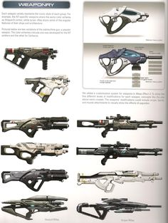 Mass Effect Weapons