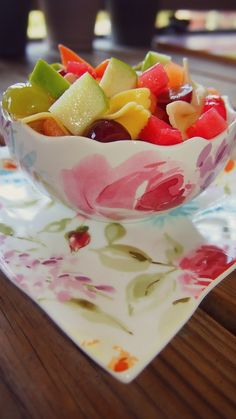 Fab Fit Friday: Honey Fruit Salad  Ingredients:  •1 Bag Torino Pasta  •1/2 Cup Sliced Grapes  •1/2 Cup Diced Pineapple and Watermelon  •1/2 Cup Diced Green Apple and Cantaloupe  •3 Tbsp Honey