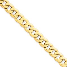 8 inches ~ from Roy Rose Jewelry 14K Yellow Gold Flat Figaro Link Soft Diamond Shape ID Bracelet ~ length
