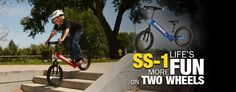 "The SS-1 Super STRIDER™ 16"" Will be available in May 2013. For ages from 6-10 Years Old. If you want to add some fun in your childs bike riding and build confidence then the Super 16"" is the right bike for the job. Check Our Website for Further details. http://www.x-streambalance.co.za/brands/strider/strider-products/strider-ss-1"