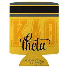 Kappa Alpha Theta koozie available in your Sorority colors shown. Rush service is available for of the total, this service can be selected during checkout. Sorority Bid Day, Kappa Alpha Theta, Sorority Outfits, Sorority Gifts, Sorority And Fraternity, Letter To Sister, Greek Gifts, Inspirational Gifts, Lettering