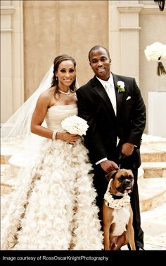Chynna and Kevin's wedding took place at the fabulous St. Regis Atlanta - love the dog in the pic! Wedding Set Up, Wedding Couples, Dream Wedding, Wedding Story, Wedding Trends, Wedding Styles, Wedding Ideas, Wedding Dress Cake, Wedding Dresses