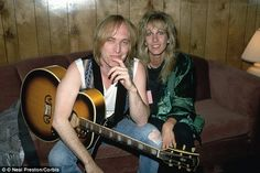 Tom Petty with his first wife Jane Benyo (1989)
