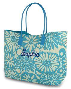 viaje bolsos del totalizadores la playa la de compras bolso de arpillera floral bordado Totalizador de E5qv87x
