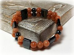 Double Trouble  Mens Red Aventurine and by DesignedByAudrey, $33.00