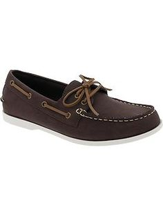 Mens Faux-Leather Boat Shoes