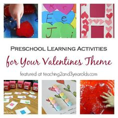14 Valentines learning activities for preschoolers that are hands on and fun!