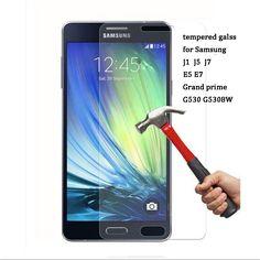 0.2mm thin 2.5D 9H Premium Tempered Glass film for Samsung J3 J5 J7 A3 A5 A7 2015 2016 Galaxy Grand Prime Screen Protector Case [Affiliate]