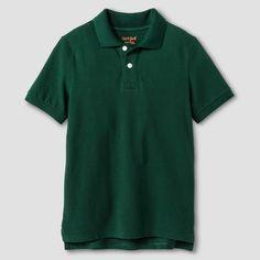 Boys' Pique Polo - Cat & Jack, Boy's, Size: Medium, Green