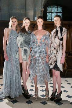 Iris Van Herpen at Couture Fall 2016 - Backstage Runway Photos