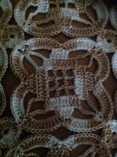 Letras e Artes da Lalá: Granny Square Crochet Headband Free, Crochet Cowl Free Pattern, Granny Square Crochet Pattern, Crochet Diagram, Crochet Squares, Crochet Granny, Crochet Motif, Crochet Designs, Crochet Doilies
