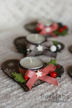 Image uploaded by Lizzy Leona on We Heart It Diy Christmas Presents, Christmas Candles, Christmas Love, Handmade Christmas, Christmas Holidays, Merry Christmas, Christmas Crafts, Christmas Ornaments, Theme Noel