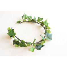 Ivy headpiece, Ivy wedding hair wreath, Ivy hair accessory ($45) ❤ liked on Polyvore featuring accessories, hair accessories, artificial garland, leaf garland, bridal flower crown, flower garland and floral crown