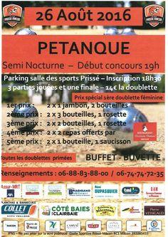 Un concours de pétanque à Prissé.