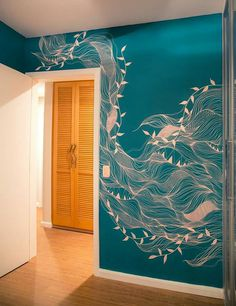 Graffiti im Haus ist der Trend zur Dekoration - Recipes & Travel via Grace - Wallpapers Designs - Оксана Ли Mural Painting, Mural Art, Bedroom Wallpaper Murals, Wallpaper Ideas, Bathroom Mural, Bamboo Bathroom, Graffiti, Wall Drawing, Deco Design