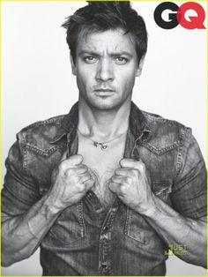 Mr. Renner, forearms aren't supposed to be so vein-y. Hairy and muscular, yes please.