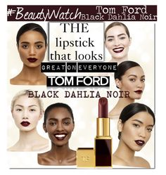 """Tom Ford Black Dahlia Lipstick.."" by nfabjoy ❤ liked on Polyvore featuring beauty, Tom Ford, Beauty, LIPSTICK and TOMFORD"