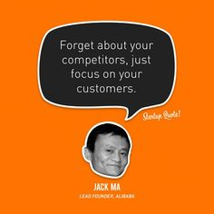Olvídate de la competencia, solo enfocate en tus clientes !