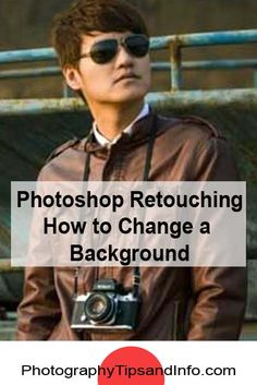 Check out this video on photoshop retouching to learn how to change the background on your photo. http://www.photographytipsandinfo.com/photoshop-retouching-how-to-change-background/