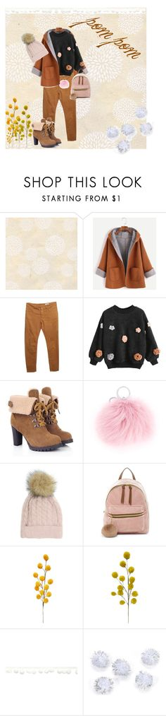 """pom pom"" by evelin-vivien-laczko on Polyvore featuring Closed, CITYSHOP, T-shirt & Jeans, Darice and pompom"