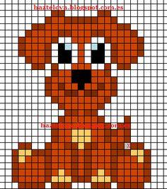 plantilla perro hama beads